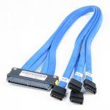 SuperMicro CBL-0103L SAS Cable - 1x Multi-Channel SAS to 4x single SAS/SATA HDD - 50cm